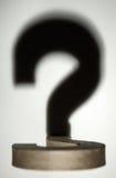 sombra de um ponto de interrogação 3d Imagens de Stock