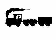 Sombra de um trem Imagens de Stock Royalty Free