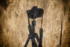 Sombra de uma câmera Imagens de Stock Royalty Free