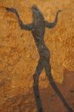 Sombra de uma menina com textura Fotografia de Stock Royalty Free