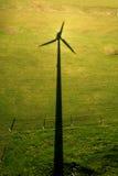 Sombra de uma turbina eólica Foto de Stock