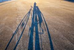 Sombra de un ciclista Fotografía de archivo libre de regalías