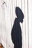 Sombra de un muchacho Imágenes de archivo libres de regalías