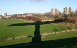 Sombra del ángel del norte Imagen de archivo