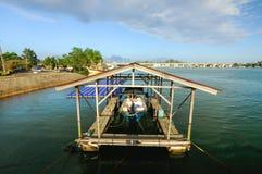 Sombra del barco Foto de archivo libre de regalías