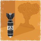 Sombra del bastidor de la bomba nuclear de la nube de la explosión Foto de archivo