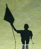 Sombra del caddie Fotografía de archivo