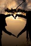 Sombra del corazón Imagenes de archivo