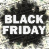 Sombra del descenso trasero de la venta de Black Friday Foto de archivo