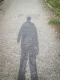 Sombra del hombre Foto de archivo