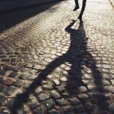 Sombra del hombre Fotografía de archivo