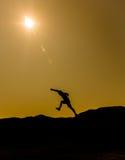 Sombra del hombre Fotografía de archivo libre de regalías