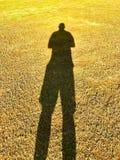 Sombra del hombre Fotos de archivo libres de regalías