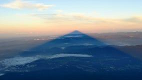 Sombra del monte Fuji Fotografía de archivo libre de regalías