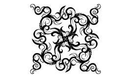 Sombra del ornamento antiguo de la vida stock de ilustración