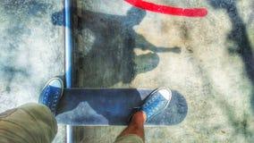Sombra del patín Fotografía de archivo