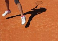 Sombra del tenis Imagen de archivo libre de regalías