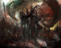 Sombra Demonic Foto de Stock