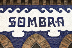 Sombra - Detail of the Monumental bullring. Stock Images