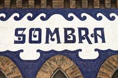 Sombra - detalle de la plaza de toros monumental Imagenes de archivo