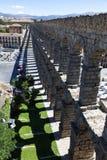 Sombra do aqueduto de Segovia Imagens de Stock