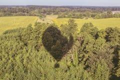A sombra do balão e da natureza fotografia de stock