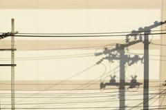 Sombra do borne elétrico foto de stock