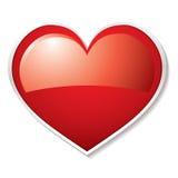 Sombra do coração do amor ilustração do vetor