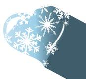 Sombra do coração do gelo Fotografia de Stock