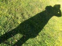 A sombra do fotógrafo Imagens de Stock