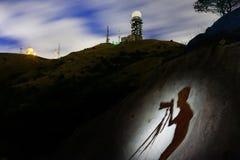 A sombra do fotógrafo Foto de Stock