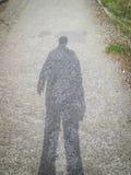 Sombra do homem Foto de Stock