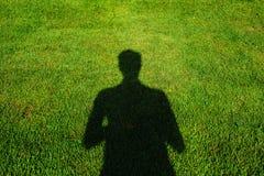 A sombra do homem Fotografia de Stock