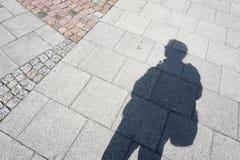 A sombra do homem Imagens de Stock