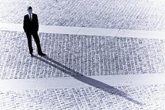 Sombra do homem de negócios Imagens de Stock