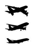 Sombra do símbolo dos aviões comerciais Imagens de Stock