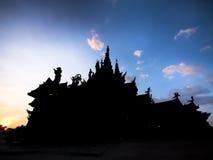 A sombra do santuário da verdade Foto de Stock