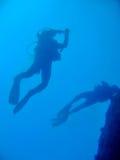 Sombra dos mergulhadores Imagem de Stock Royalty Free