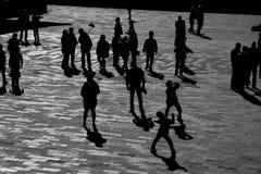Sombra dos povos Foto de Stock