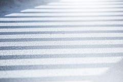 Sombra dos trilhos na ponte Fotos de Stock Royalty Free