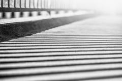 Sombra dos trilhos na ponte Foto de Stock Royalty Free