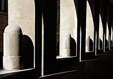 Sombra e luz imagens de stock