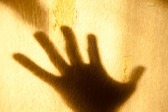 Sombra e mão Fotografia de Stock Royalty Free