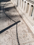 Sombra em uma ponte Foto de Stock Royalty Free