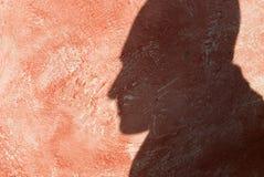 Sombra en la pared Imagen de archivo libre de regalías
