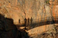 Sombra en la pared Foto de archivo libre de regalías