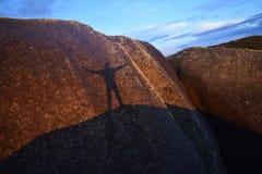 Sombra en la salida del sol Imagen de archivo libre de regalías