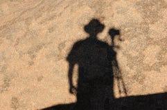 Sombra en Spitzkoppe, Namibia Foto de archivo