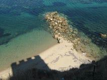 Sombra griega de la torre de Ancien Fotos de archivo