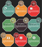 Sombra longa do infographics liso Imagens de Stock